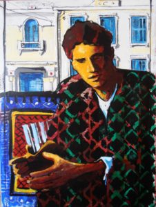 Carpets2- Mateo's portrait, in Tunis Tunisia' 040X030cm. acrylic & oil on paper mounted on canvas, 2016-Vassilis Karakatsanis-16