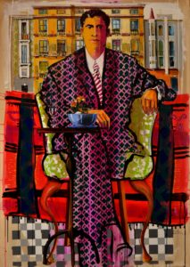 Carpets2-Mr.Αngel Arranz's portrait, at his office in Barcelona Spain